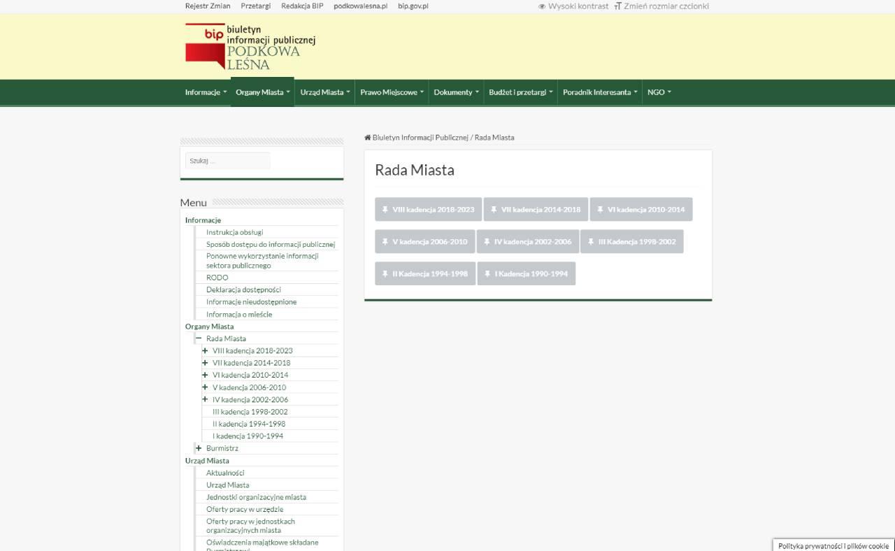 ROAN24 BIP Ayuntamiento de Podkowa Leśna