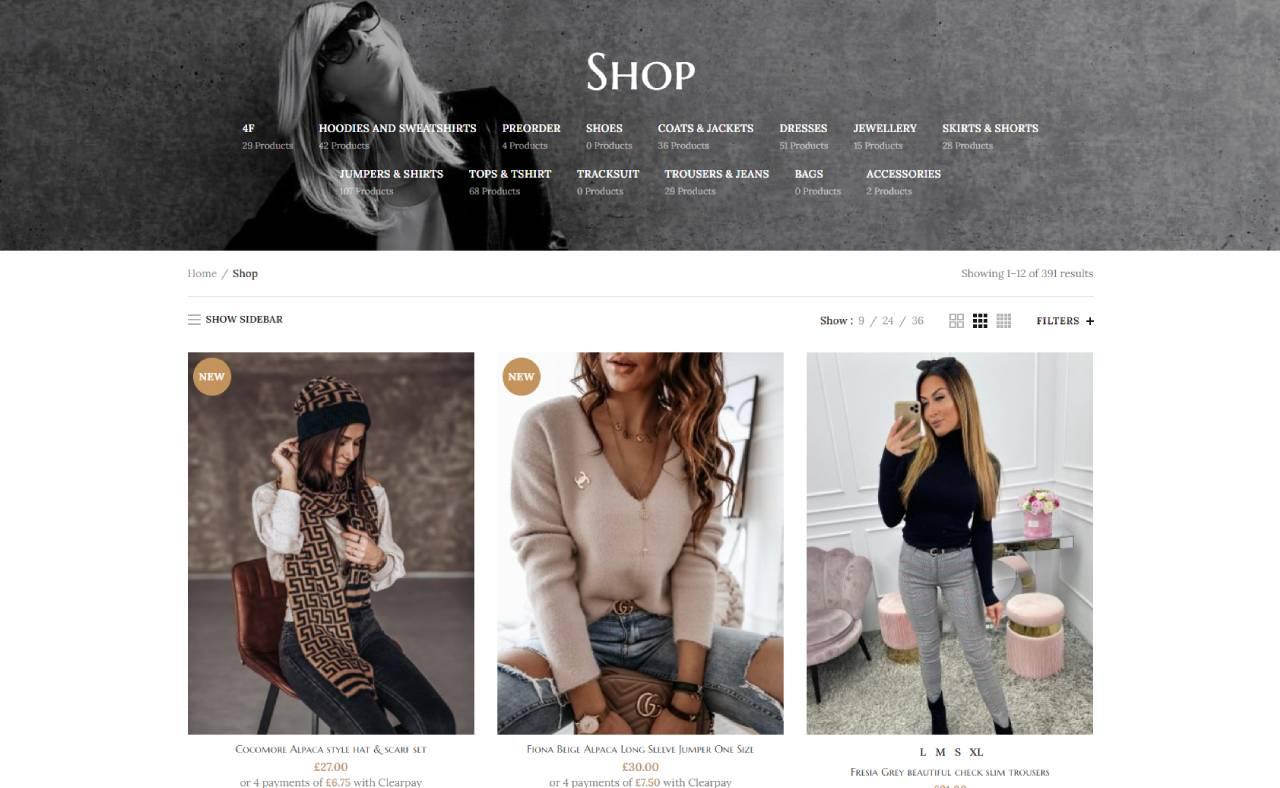 ROAN24 Tienda de moda de Elixe