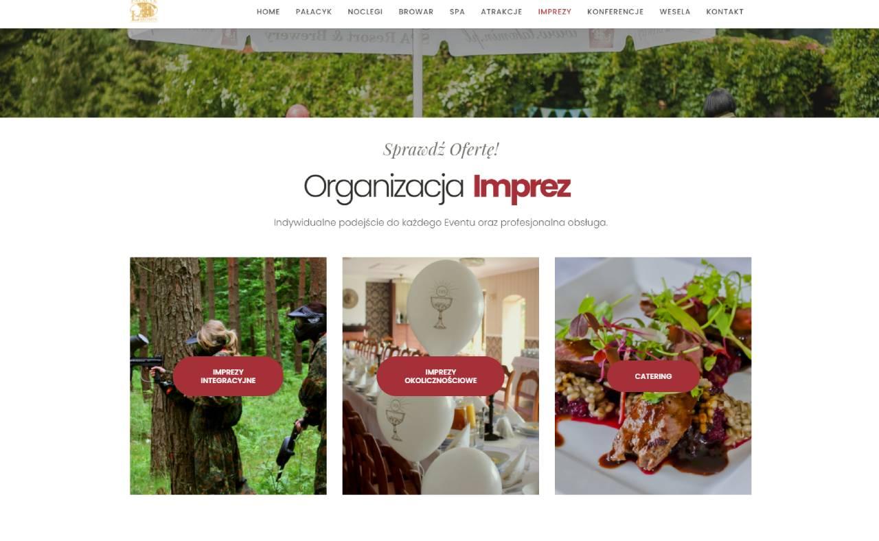 ROAN24 Łąkomin Palace Website Eventos