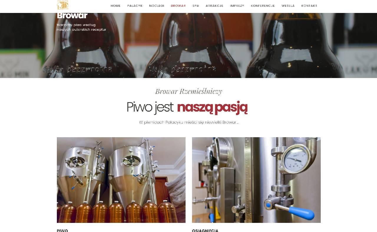 Página web de la cervecería ROAN24 Palace Łąkomin